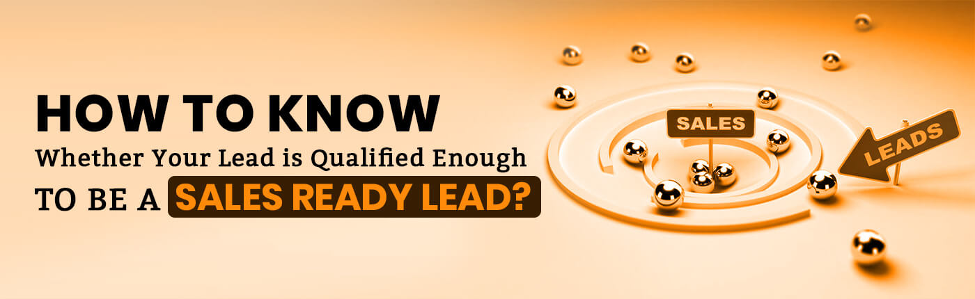How to Know Whether Your Lead is Qualified Enough to be a Sales Ready Lead?